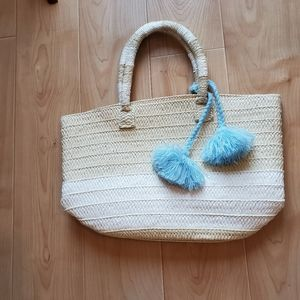 NWOT Altru tote with blue removable tassel